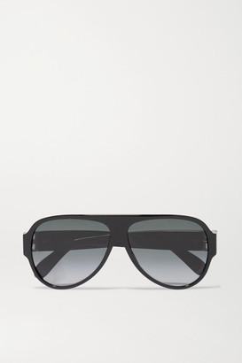 Givenchy Oversized Aviator-style Acetate Sunglasses - Black