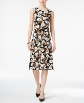 Charter Club Petite Printed Fit & Flare Dress, Created for Macy's