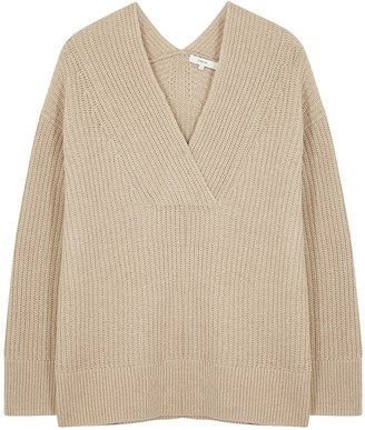 Vince Light Brown Wool-blend Jumper