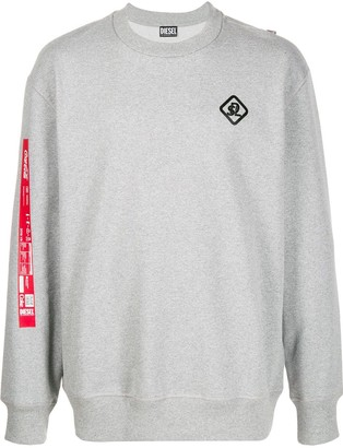 Diesel Recycled fabric sweatshirt with print