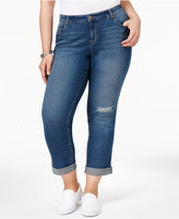 Style&Co. Style & Co Plus Size Ripped Marseilles Wash Boyfriend Jeans, Only at Macy's