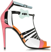 Pierre Hardy Patent Leather and Kid Pink Alchimia High Heeled Sandal