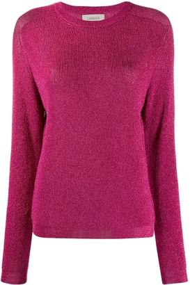 Laneus Round-Neck Metallic Sweater