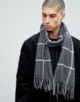 New Look Scarf With Houndstooth Print In Black