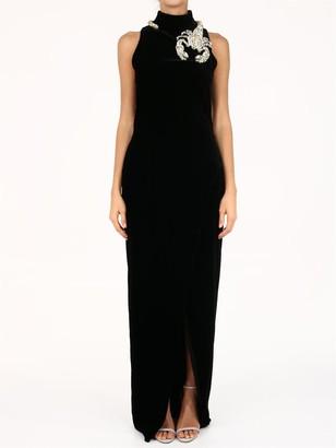 Balmain Scorpion velvet dress black