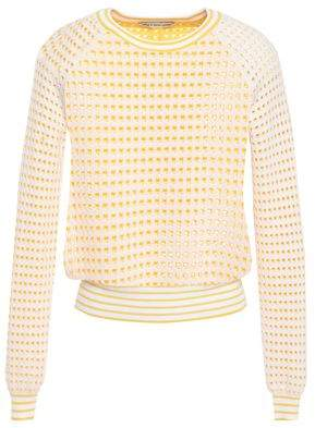 Autumn Cashmere Cotton By Open-knit Cotton Sweater