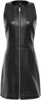 Versace Zip-detailed Leather Mini Dress