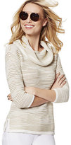 New York & Co. Lurex Stripe Cowl-Neck Sweater