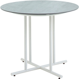 Houseology Gloster Whirl Round Dining Table 90 cm - Ceramic - White