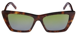 Saint Laurent New Wave Mica 53MM Cat Eye Sunglasses