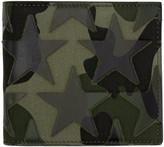 Valentino Green Camouflage Stars Bifold Wallet