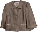 Laurèl Beige Linen Jacket for Women