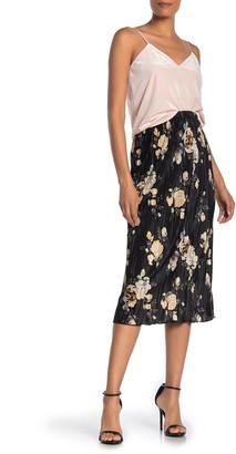 Everleigh Plisse Floral Midi Skirt (Regular & Petite)