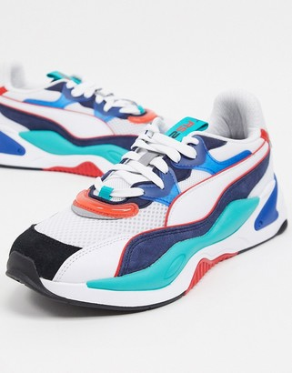 Puma RS-2K sneakers in green and blue