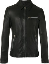 Munderingskompagniet - Kokura leather jacket - men - Cotton/Leather/Polyester - M