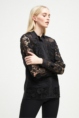 French Connection Eadu Lace Panelled Shirt