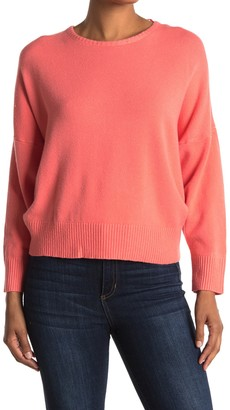 Woven Heart Open Tie Back Pull-Over Sweater
