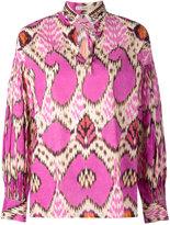 Etro printed tie-fastening blouse - women - Silk/Cotton/glass - 44