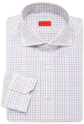 Isaia Tattersall Dress Shirt