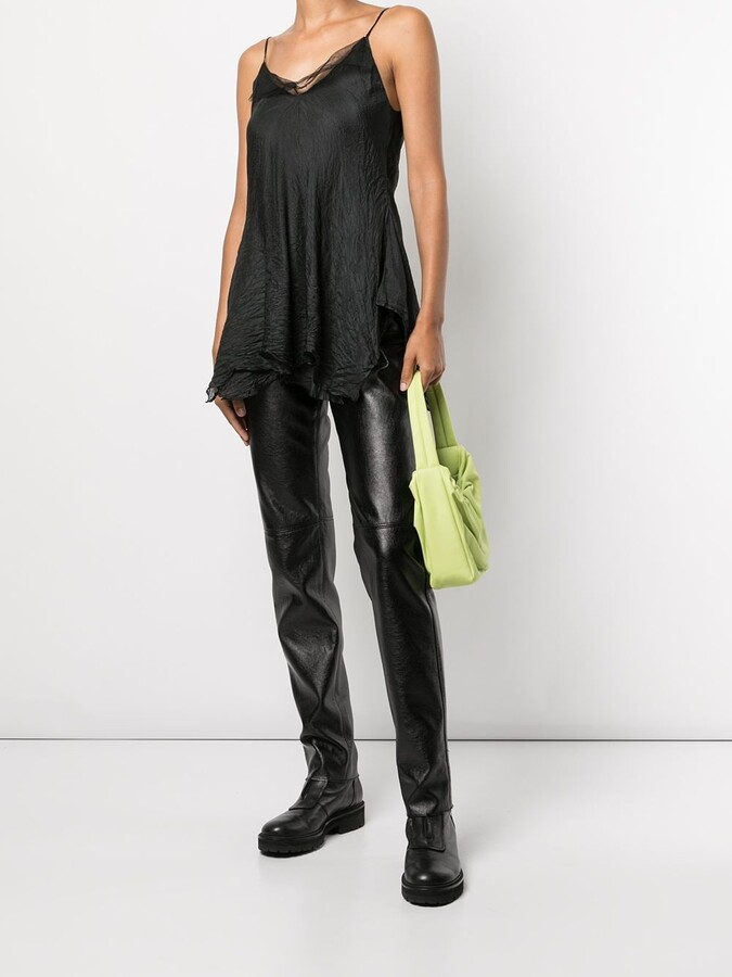 Thumbnail for your product : Marc Le Bihan Tulle-Layered Silk Top