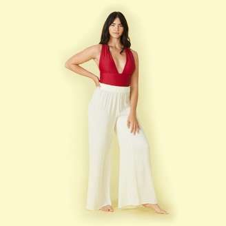 Summersalt The Perfect Palazzo Pant - White Sand