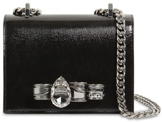 Alexander McQueen Embellished Leather Satchel Bag