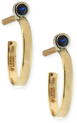 LANA GIRL BY LANA JEWELRY Girls' Blue Sapphire Hoop Earrings