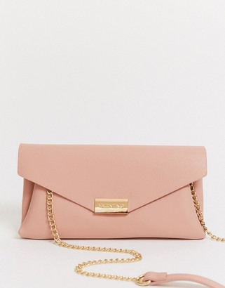 Valentino by Mario Valentino clutch bag with chain strap in pink