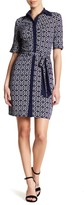 Laundry by Shelli Segal Geo Print Dress (Petite)