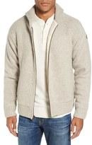 Schott NYC Men's Lined Wool Zip Sweater