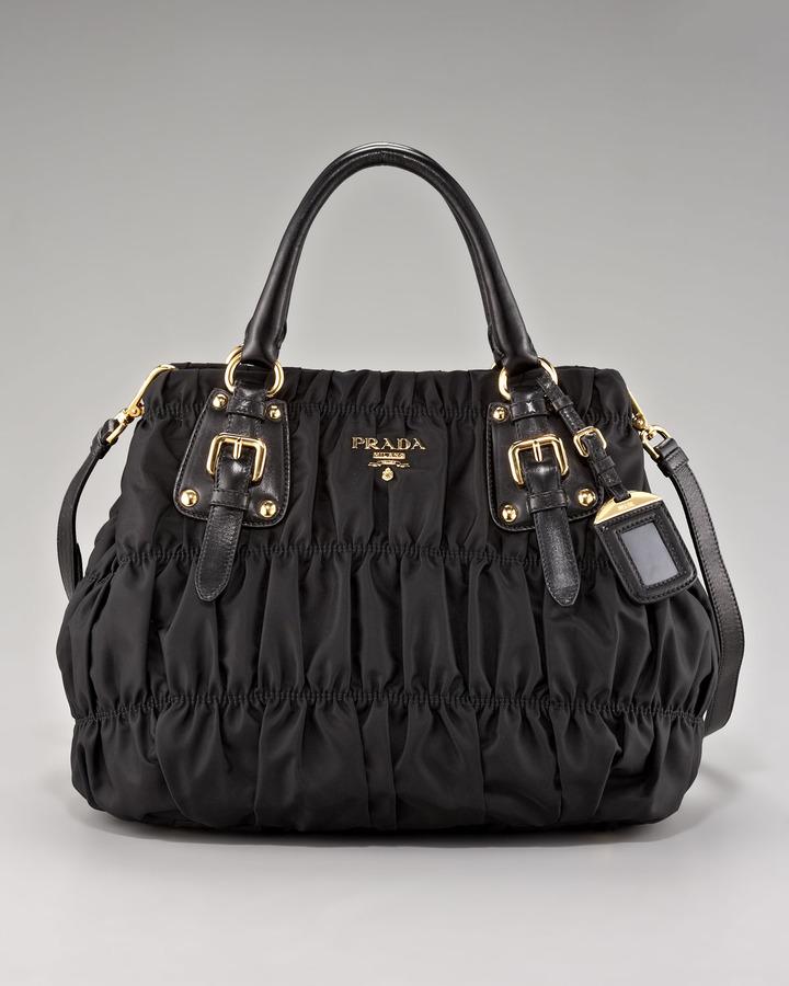 Prada Medium Ruched Shoulder Bag
