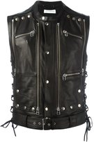 Faith Connexion studded zip up sleeveless jacket