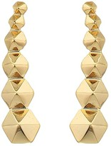 AllSaints Hex Ear Crawler Earrings (Gold) Earring