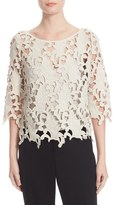 Tracy Reese Women's Guipure Lace Top