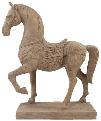 Florabelle Living Polyresin Selle Francais Horse Ornament 8 x 33 x 37cm Brown