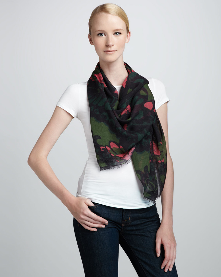 McQ Butterfly Camo Scarf