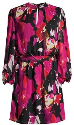 Trina Turk Kaneshon Printed Long-Sleeve Dress