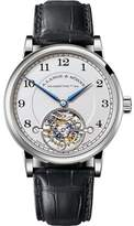 A. Lange & Söhne A. Lange and Sohne Tourbillon 1815 Platinum / Leather with Silver Dial 39.5mm Mens Watch