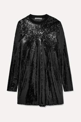 Philosophy di Lorenzo Serafini Sequined Tulle Mini Dress - Black