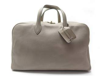 Hermes Beige Leather Travel bags