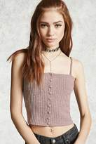 Forever 21 Ribbed Button-Front Cami