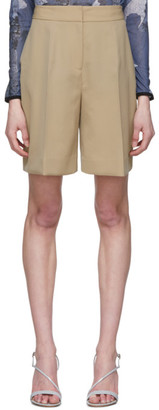 Victoria Victoria Beckham Beige Tailored Shorts