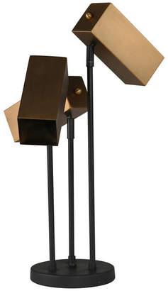 """Sagebrook Home Metal 3-Head Desk Lamp, Bronze, 22"""""""