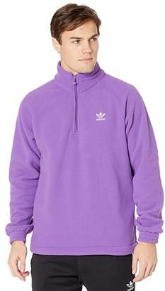 adidas PolarFleece(r) 1/2 Zip (Active Purple) Men's Clothing