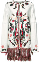 Rachel Zoe embroidered coat - women - Cotton/Linen/Flax/Rayon - M
