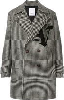 Ports V double-breasted houndstooth coat