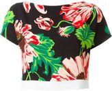 Stella McCartney floral print cropped top - women - Spandex/Elastane/Viscose - 44
