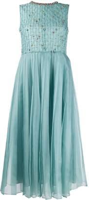 RED Valentino silk-organza crystal embellished dress