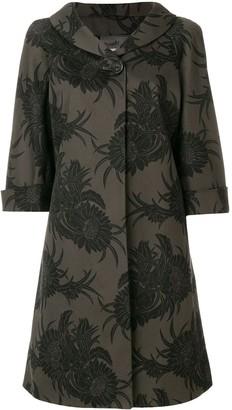 Prada Pre-Owned Three-Quarter Sleeves Floral Coat