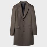 Paul Smith Men's Slate Grey Wool And Cashmere-Blend Peak-Lapel Epsom Coat